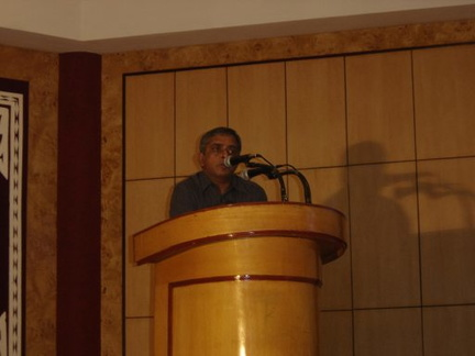 Dr. Srinivasan speaking