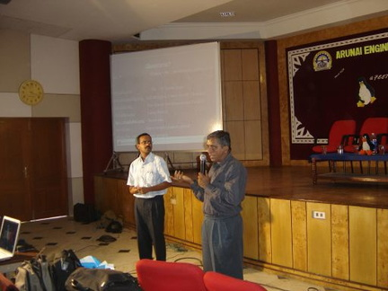 Srinivasan and Raman answer questions