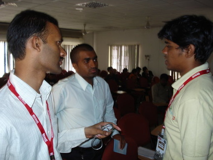 Pradeep, Vinay, Sudharshan (left to right)