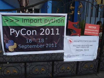 PyCon 2011 banner at the gate