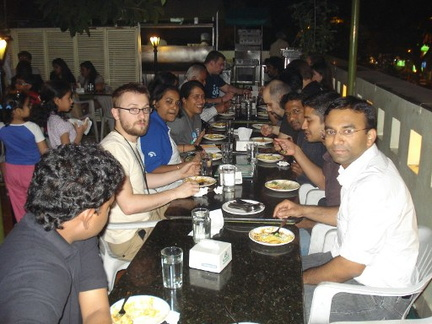 Dinner at Vaishali restaurant with Wikimedia and PLUG members