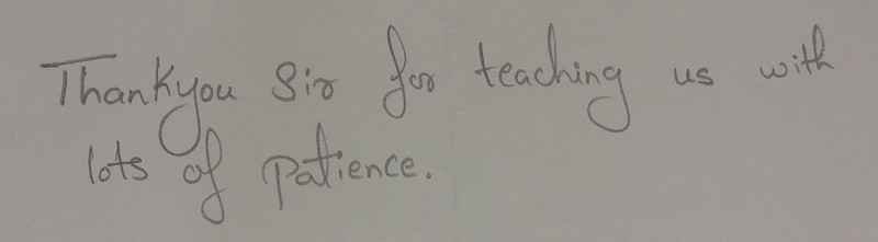 Teaching with patience